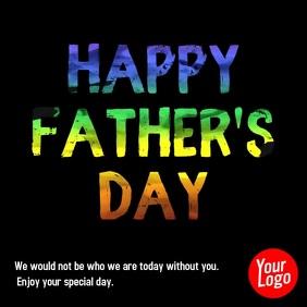 Happy Father's Day color ink animation video Publicação no Instagram template