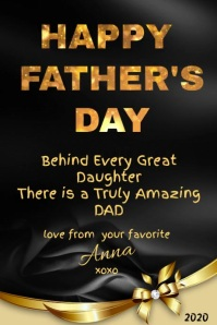 Happy Father's Day Dad Poster template