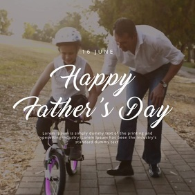 Happy Father's Day Cuadrado (1:1) template