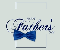 Happy Father's day design Middelgrote rechthoek template