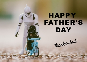 Happy Father's Day Открытка template