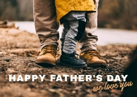 Happy Father's Day Postcard template