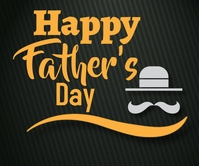 Happy father's day Malaking Rektangle template