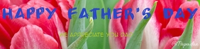 Happy father's day Banner 2' × 8' template