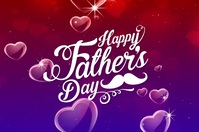 Happy Father's Day Banner 4' × 6' template
