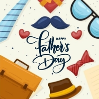 HAPPY FATHER'S day greeting card template Logo