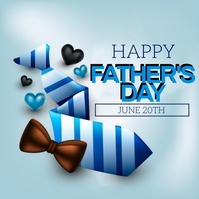 HAPPY FATHER'S day greeting card template