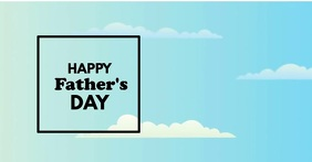 Happy Father's Day Greetings Superhero Ad Imagen Compartida en Facebook template