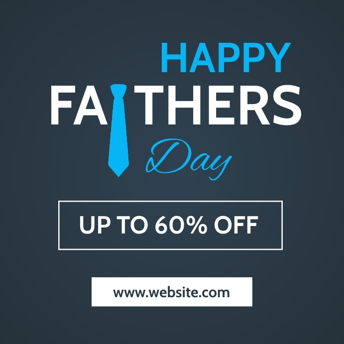 Happy father's day instagram post advertising template