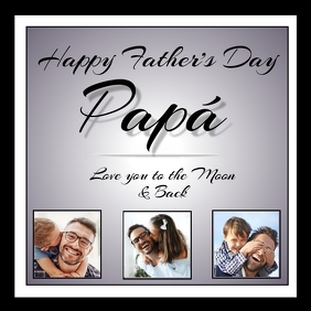 Happy Father's Day Papa Instagram-bericht template