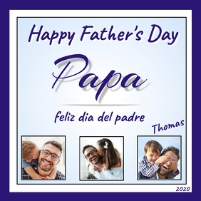 Happy Father's Day Papa Publicação no Instagram template