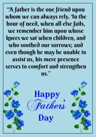 Happy Father's day quote A5 template