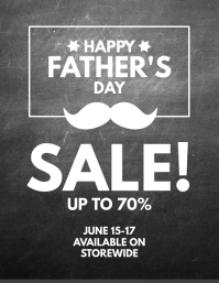 Happy Father's Day Sale Poster Flyer Template