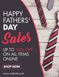 happy father's day sales flyer Pamflet (Letter AS) template