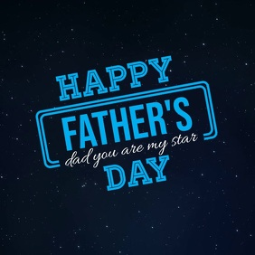 Happy Father's Day Video, Father's Day Video Square (1:1) template