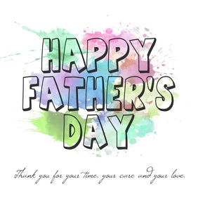 Happy Father's Day watercolor message video template