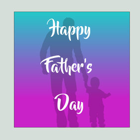 Happy Father's Day Logo template