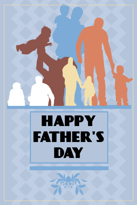 Happy Father's day Poster template