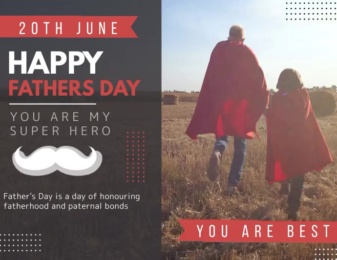 Happy fathers day, parents Folder (US Letter) template