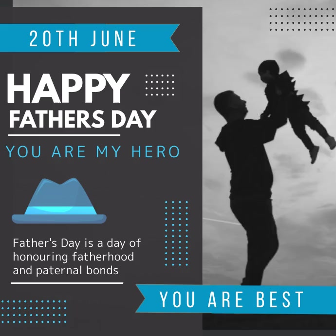 Happy fathers day, parents Instagram-Beitrag template