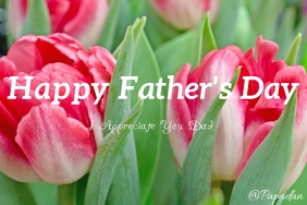 Happy Fathers day Banner 4' × 6' template