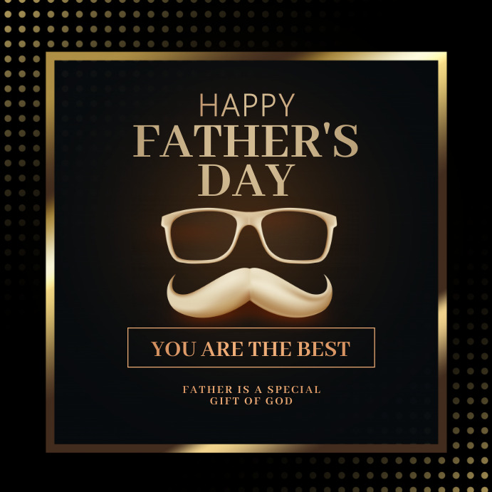 happy fathers day Vierkant (1:1) template