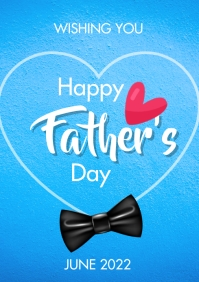 happy fathers day flyer A3 template