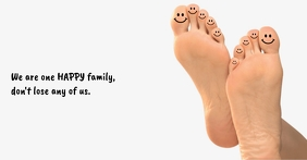 Happy Feet Facebook Shared Image template