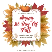 Happy first day of fall best wishes Instagram-opslag template