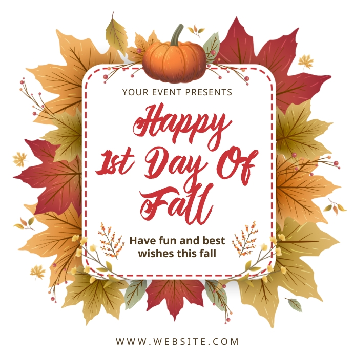 Happy first day of fall best wishes Instagram-bericht template