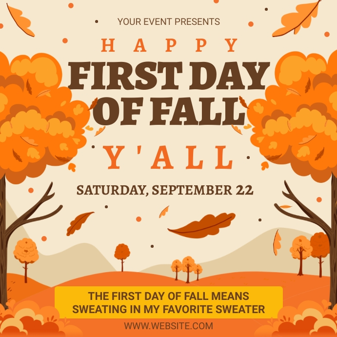 Happy first day of fall y'all wish Wpis na Instagrama template