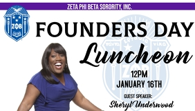 zeta phi beta founders day luncheon Business Card template