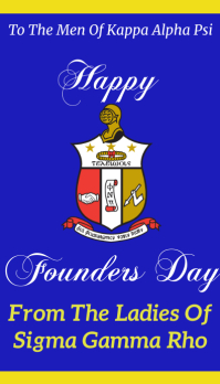 Happy Founders Day kappa alpha psi Besigheidskaart template