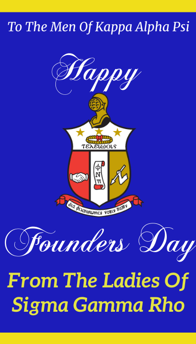 Happy Founders Day kappa alpha psi Visitkort template