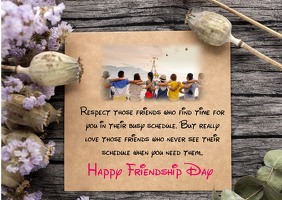 Happy Friendship Day card Kartu Pos template
