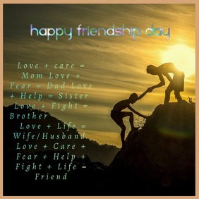 Happy friendship day Instagram-bericht template