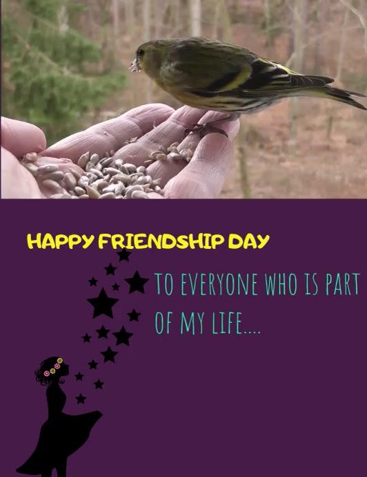 happy friendship day Volante (Carta US) template