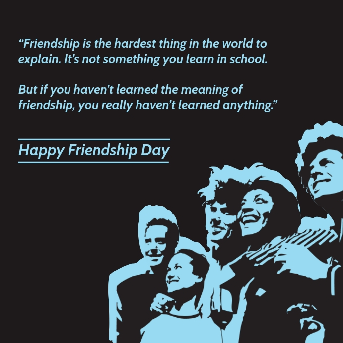 Happy Friendship Day Greeting Template สี่เหลี่ยมจัตุรัส (1:1)