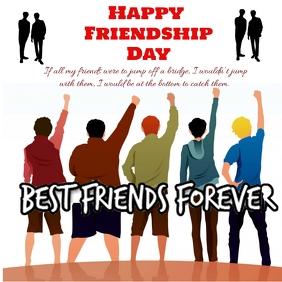 Happy Friendship Day post Publicação no Instagram template