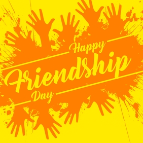 Happy Friendship Day Template Persegi (1:1)