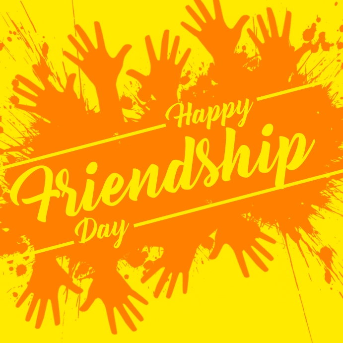 Happy Friendship Day Template Square (1:1)