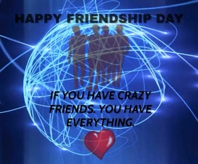 HAPPY FRIENDSHIP DAY TEMPLATE Mittelgroßes Rechteck