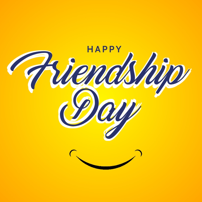 Happy Friendship Day Template Quadrat (1:1)