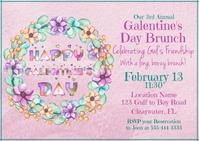 Happy Galentine's Day Standard Postcard Size template