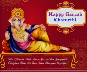 Happy Ganesh Chaturthi wishes Wallpaer Groot Reghoek template