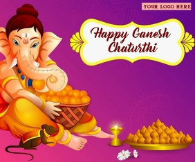 Happy Ganesh Chaturti Wishes wallpaer Medium Reghoek template