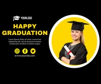 Happy Graduation Template Persegi Panjang Besar