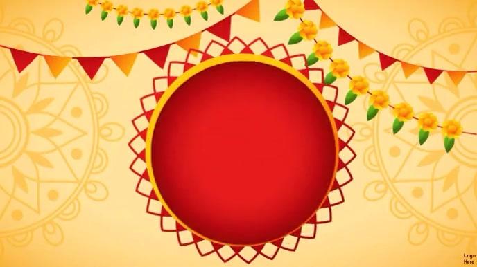 Happy Gudi Padwa Wishes Video 数字显示屏 (16:9) template