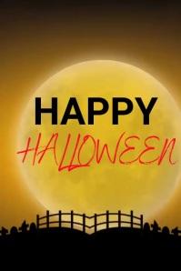 Happy Halloween banner Cartel de 4 × 6 pulg. template