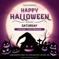 Happy Halloween costume party animated invite Instagram Post template